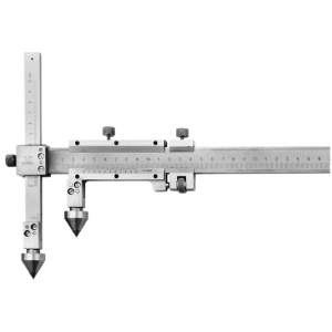 Штангенциркули нониусные  для измерения межцентровых расстояний c коническими вставками завод SHAN