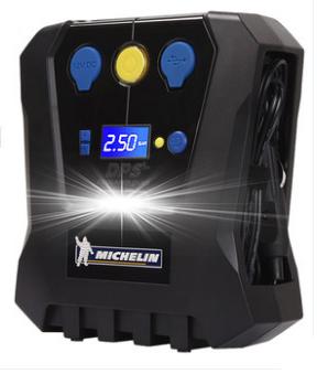 Компрессор  цифровой   №  4398 (предустановка давления + фонарик)    120 W   MICHELIN