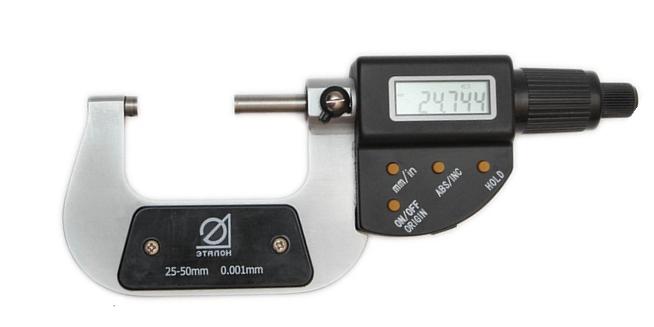 Микрометр цифровой   МКЦ 50      Эталон,  QLR промышленного назначения