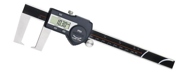 Штангенциркуль  цифровой ШЦЦО 0-200-0,01 / 50 мм  для внешних измерений канавок IP 54