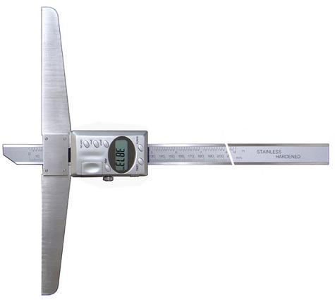 Штангенглубиномер  цифровой   ШГЦ - 300  с основанием   150  мм