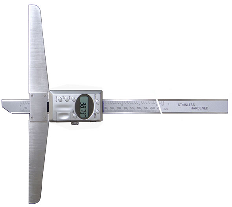 Штангенглубиномер  цифровой   ШГЦ - 300  с основанием   200  мм