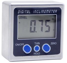 """Уровень - угломер  цифровой  с 3-мя  магнит. основаниями  УКЦ  60  ( 4 х 90° )  5"""""""