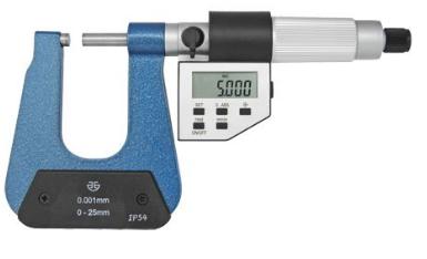 Микрометр  листовой  цифровой    МЛЦ   0 - 25  мм     Н = 150