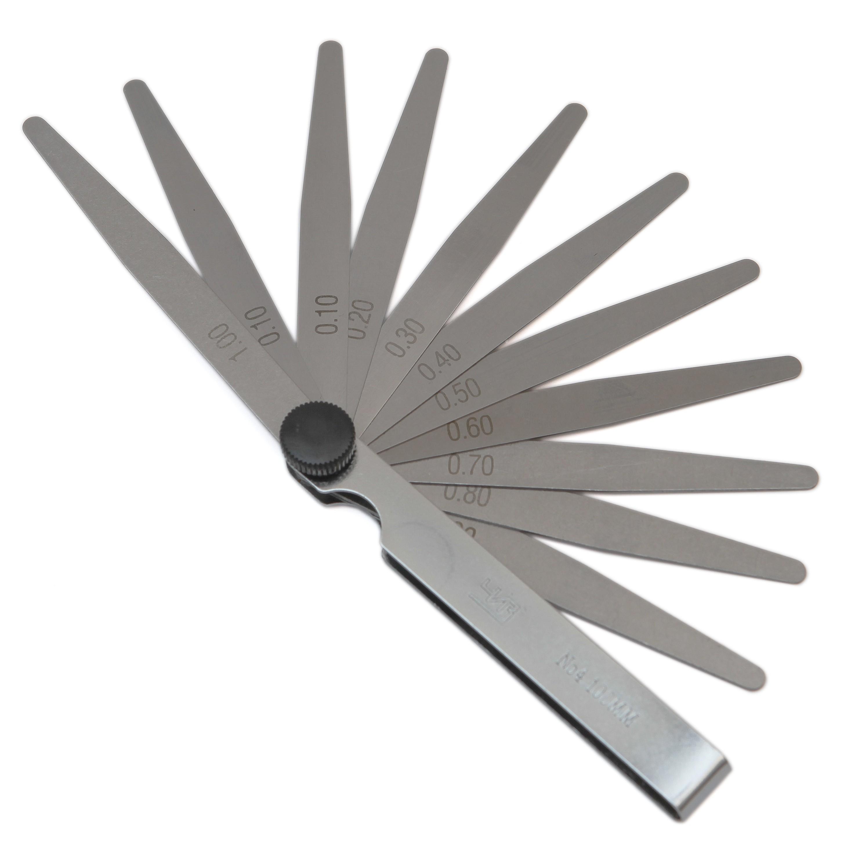 Набор  щупов № 4   ( длина 100 мм )     ( 0,1 - 1,0мм )
