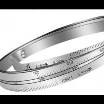 Циркометр  PT    9 - 80   шкала 0,20 мм,  +/- 0,10 мм  нержавеющая сталь   AISI 301