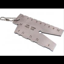 Шаблон для трапецеидальной 29° резьбы 1-10 мм