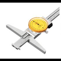 Штангенглубиномер  индикаторный   ШГК - 200-0,02  с 2-мя зацепами / толщ. 2,5 мм