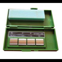 Набор  4W - 206   образцов шероховатости для  круглого  шлифование  -    Ra  0,2 - 1,6  мкм  /  4 шт