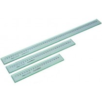 Линейка  стеклянная   300 мм    шкала  1 мм     точность   0,001  мм