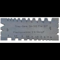 Шаблон для трапецеидальной и ленточной резьбы 55°/ 60°, 2-12 мм, 2-8 ниток на дюйм