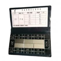 Набор  4W   201 образцов шероховатости  для  цилиндрического фрезерования  -  Ra  0,4 - 12,5  мкм  / 6 шт