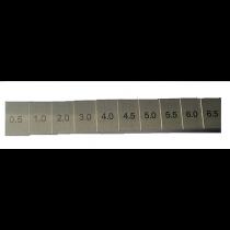 Щуп клиновой - Клин  для  контроля  зазоров ступенчатый     0,5 -  6,5 мм    ступень   0,5 мм