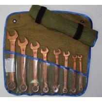 Набор ключей комбинированных омедненных (искробезопасных) 6-22 12 штук