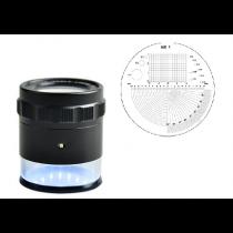 Лупа  измерительная    ЛИ - 1 - 10х, диапазон 10-0-10,  шкала  0,1  мм    LED с подсветкой