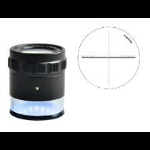 Лупа  измерительная    ЛИ - 13 - 10х, диапазон  15-0-15, шкала  0,1 мм,  LED с подсветкой