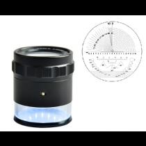 Лупа  измерительная  ЛИ - 2 - 10х ,  диапазон 10-0-10,   шкала  0,1 мм    LED с подсветкой