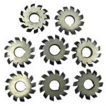 Фрезы дисковые модульные зуборезные М8 Р6М5 ( комплект из 8 шт)