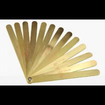 Набор  латунных щупов  длиной  -  300 мм   /  0,05 - 1,0  мм     13 штук
