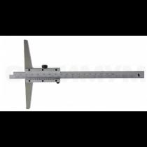Штангенглубиномер   ШГ - 200 - 0,02   с  основанием  200  мм SHAN