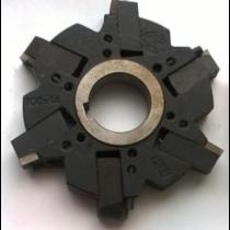 Фреза дисковая 3- стор. с механическим крепплением ромбических пластин 100х14х27 z=6