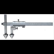Штангенциркуль  ШЦО  20-300 - 0,02  для измерения межцентровых расстояний   ( плоские + конус )