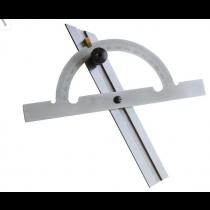 Угломер-транспортир с нониусом  ( 0°-180° )  d 100,  линейка  150 мм