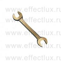 Ключ рожковый омедненный 17х19